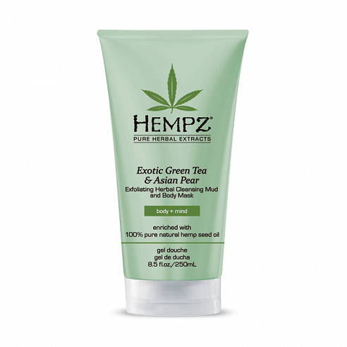 Hempz Exotic Green Tea & Asian Pear Exfoliating Herbal Cleansing Mud and Body Mask - 200ml