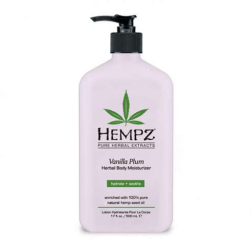 Hempz Vanilla Plum Herbal Body Moisturizer - 500ml