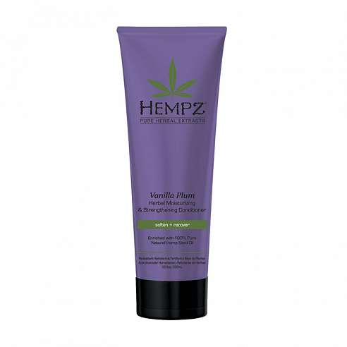 Hempz Vanilla Plum Herbal Moisturizing & Strengthening Conditioner - 265ml