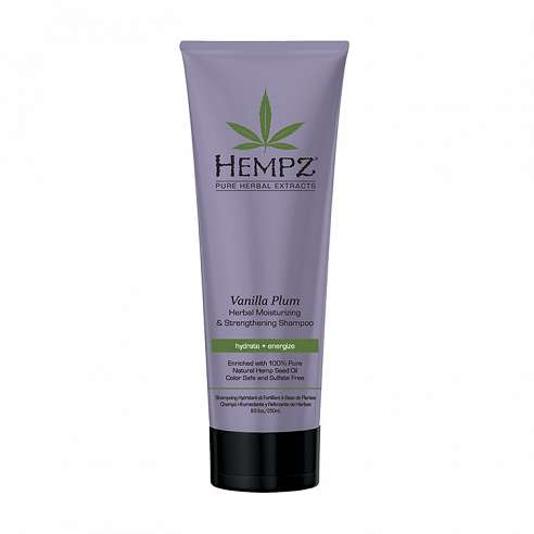 Hempz Vanilla Plum Herbal Moisturizing & Strengthening Shampoo - 265ml